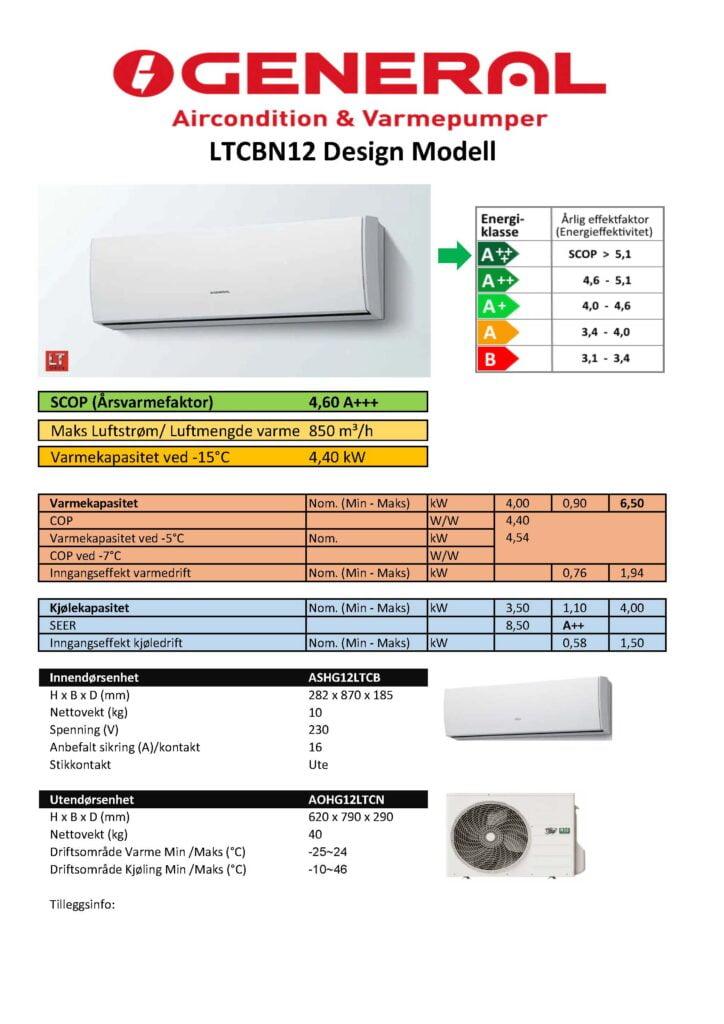 General 12 LTCBN  Design modell - Keli AS