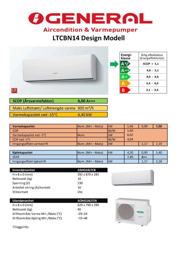 General 14 LTCBN Design modell - Keli AS