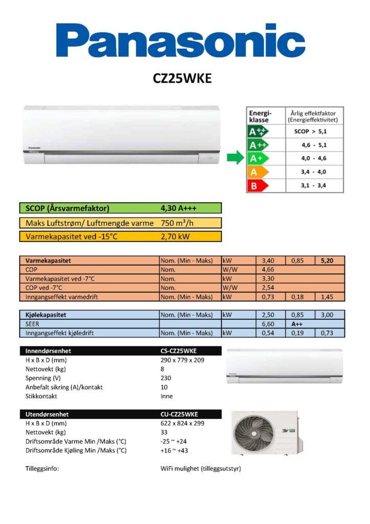 Panasonic CZ25WKE - Keli AS
