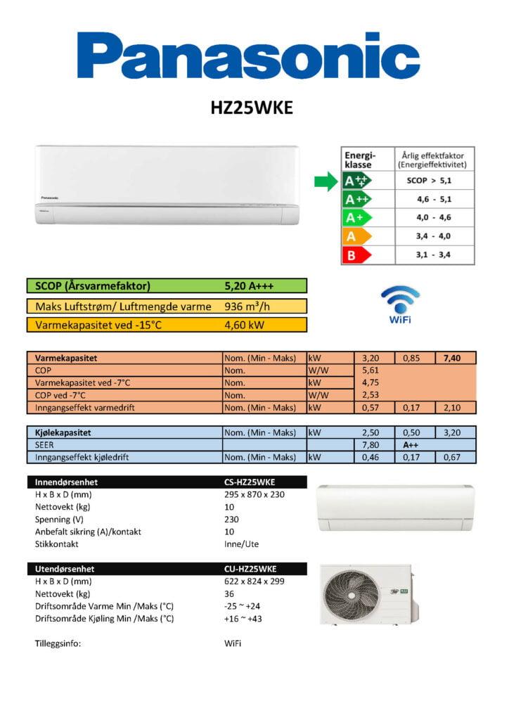 Panasonic HZ25WKE - Keli AS