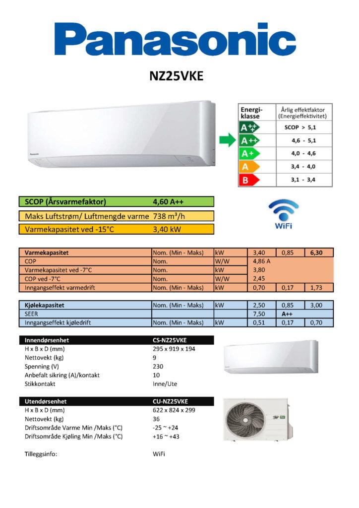 Panasonic NZ25VKE - Keli AS