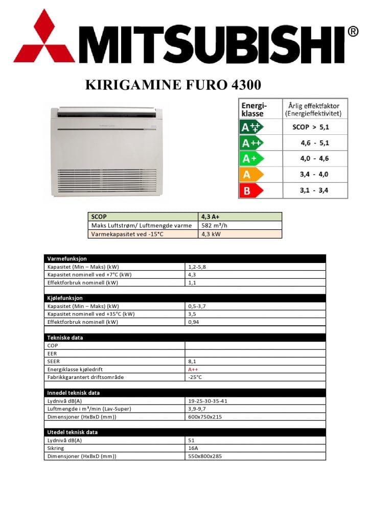 Mitsubishi Furo KJ35 4300 Gulvmodell - Keli AS