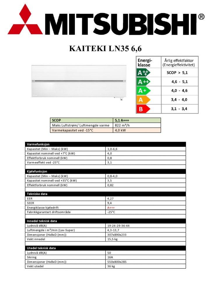 Mitsubishi KAITEKI LN35 6,6 Safirsort - Keli AS