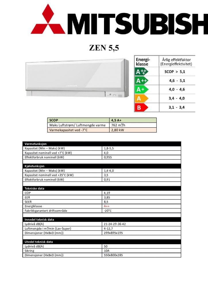Mitsubishi ZEN EF35 Hvit/Sort/Sølv - Keli AS